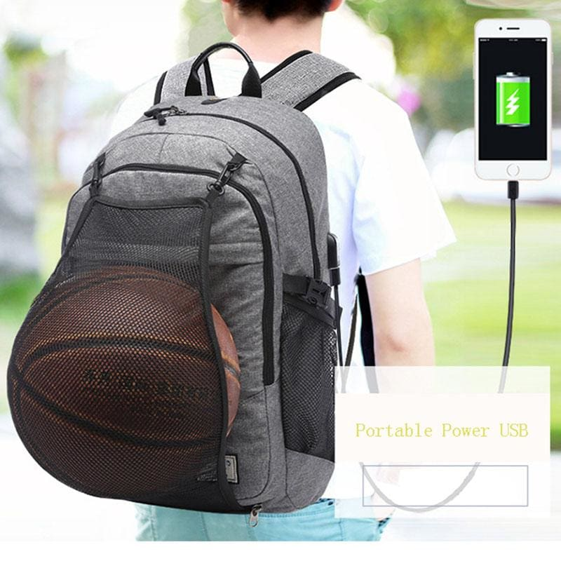 "The ""GOATbag"" Basketball Backpack with USB Charging Port"