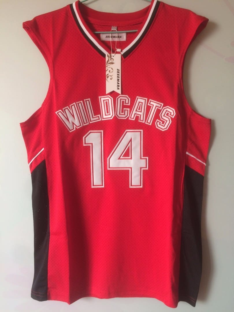 Troy Bolton #14 East High School Wildcats White Basketball Jersey