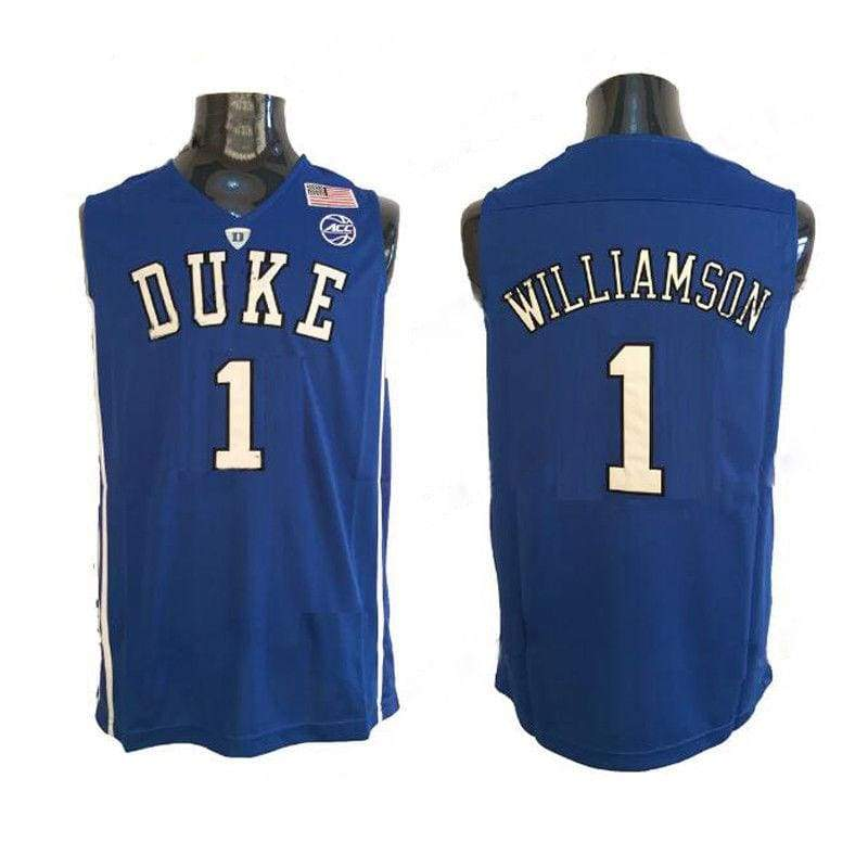Zion Williamson #1 Duke Basketball Jersey