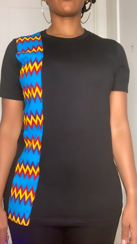 Kente Unisex T-Shirt - Black