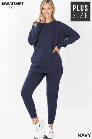 Courtney Quarantine & Chill Sweatsuit Set-Curvy