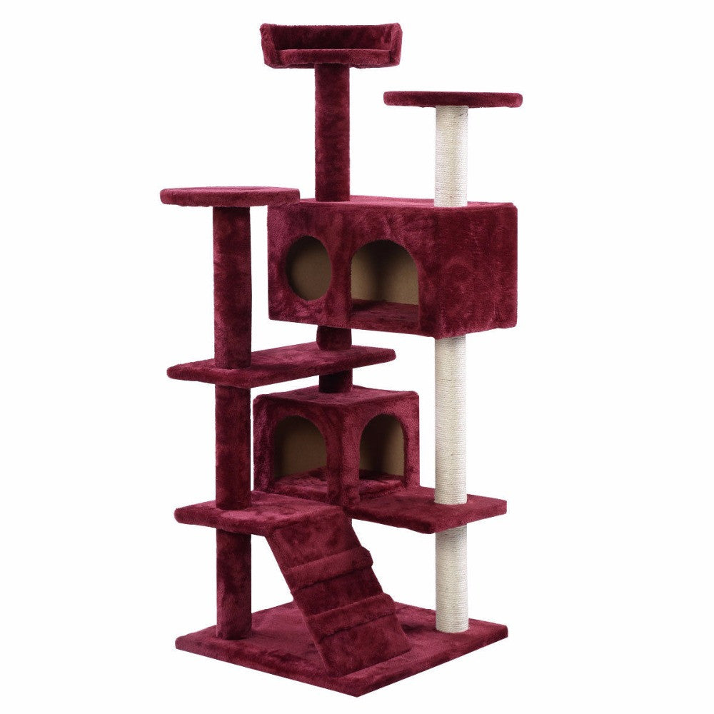 Cat Tree Tower Condo Furniture Scratch Post Kitty Pet House Play Wine   Pet  Products Co