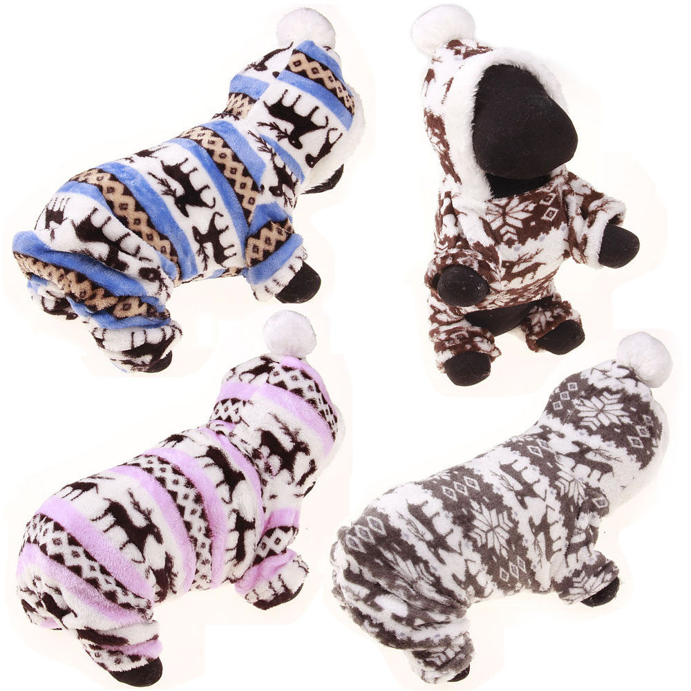 Designer Cat Clothes | Designer Soft Winter Warm Deer Cotton Hoodie Dog Clothes Cat
