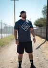 White Diamond T-Shirt - Midnight Blue - T-Shirt - Contagion Athletics
