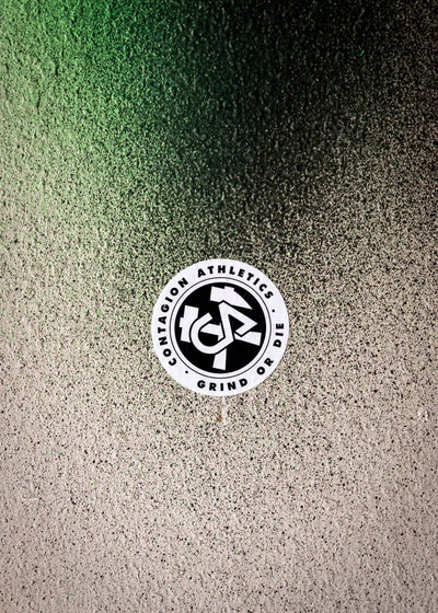 "Hammer & Axe Crest Sticker 3"" - Sticker - Contagion Athletics"