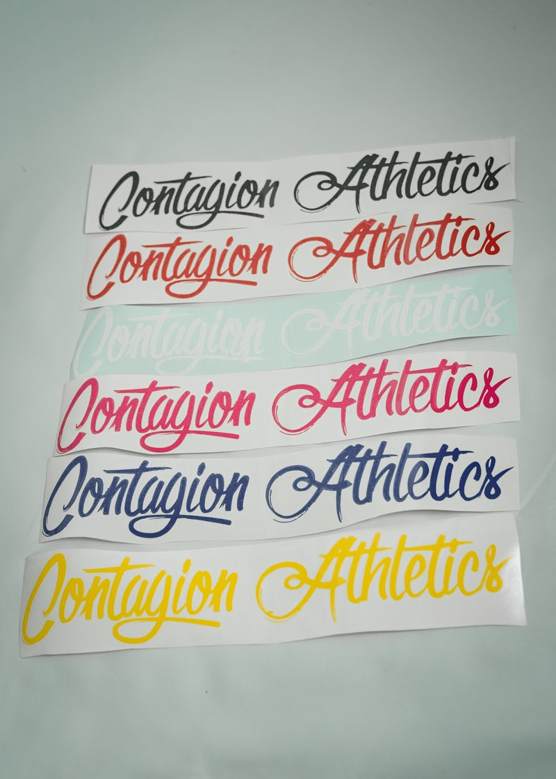CA Script Logo Decal - Shop : Accessory : Sticker - Contagion Athletics