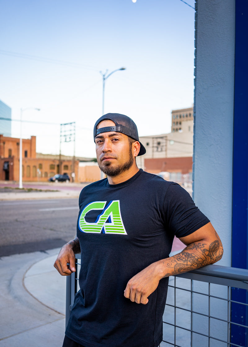 CA 3D Graded Logo T-Shirt - Black - T-Shirt - Contagion Athletics