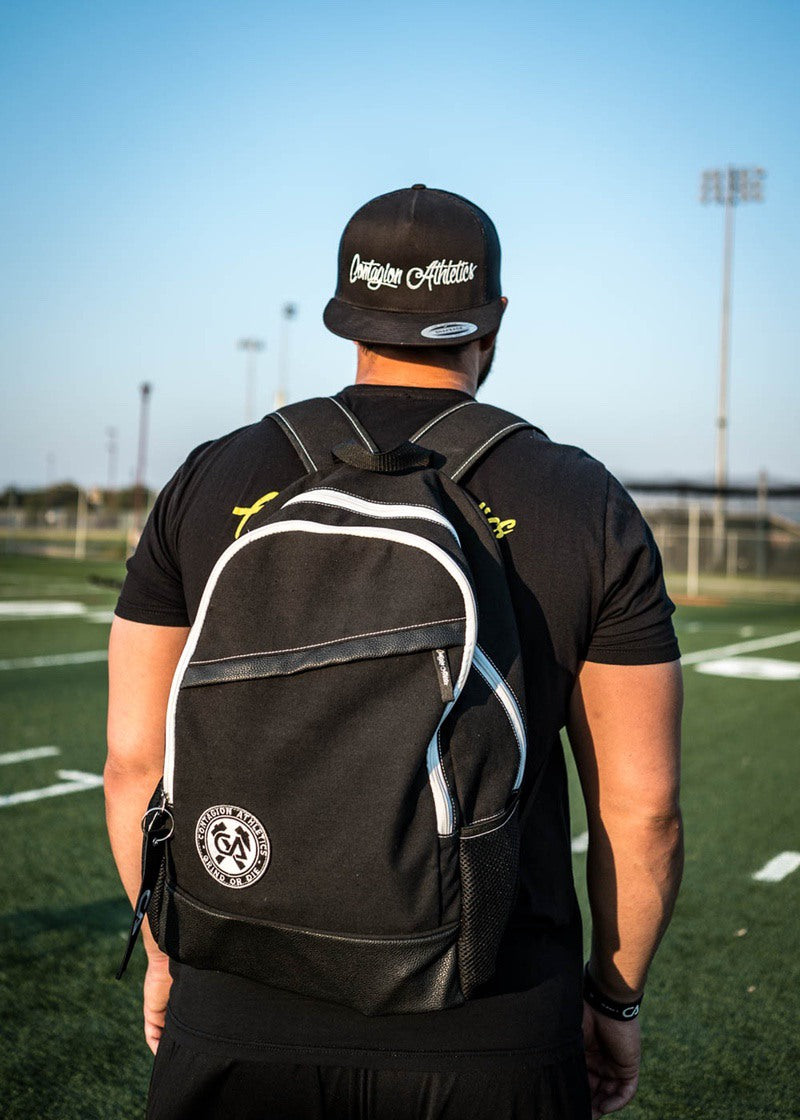Crested Backpack - Black - Shop : Accessory : Backpack - Contagion Athletics