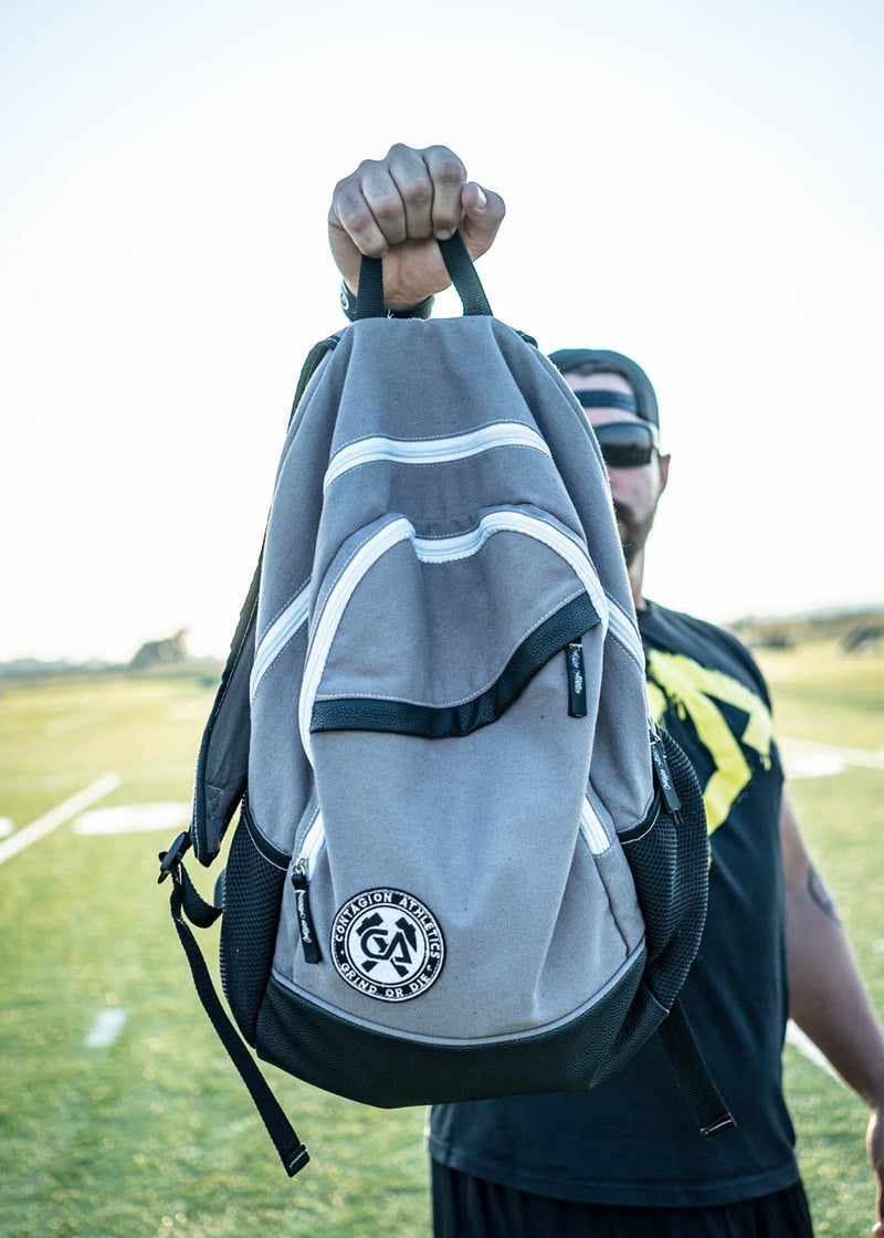 Crested Backpack - Gray - Backpack - Contagion Athletics