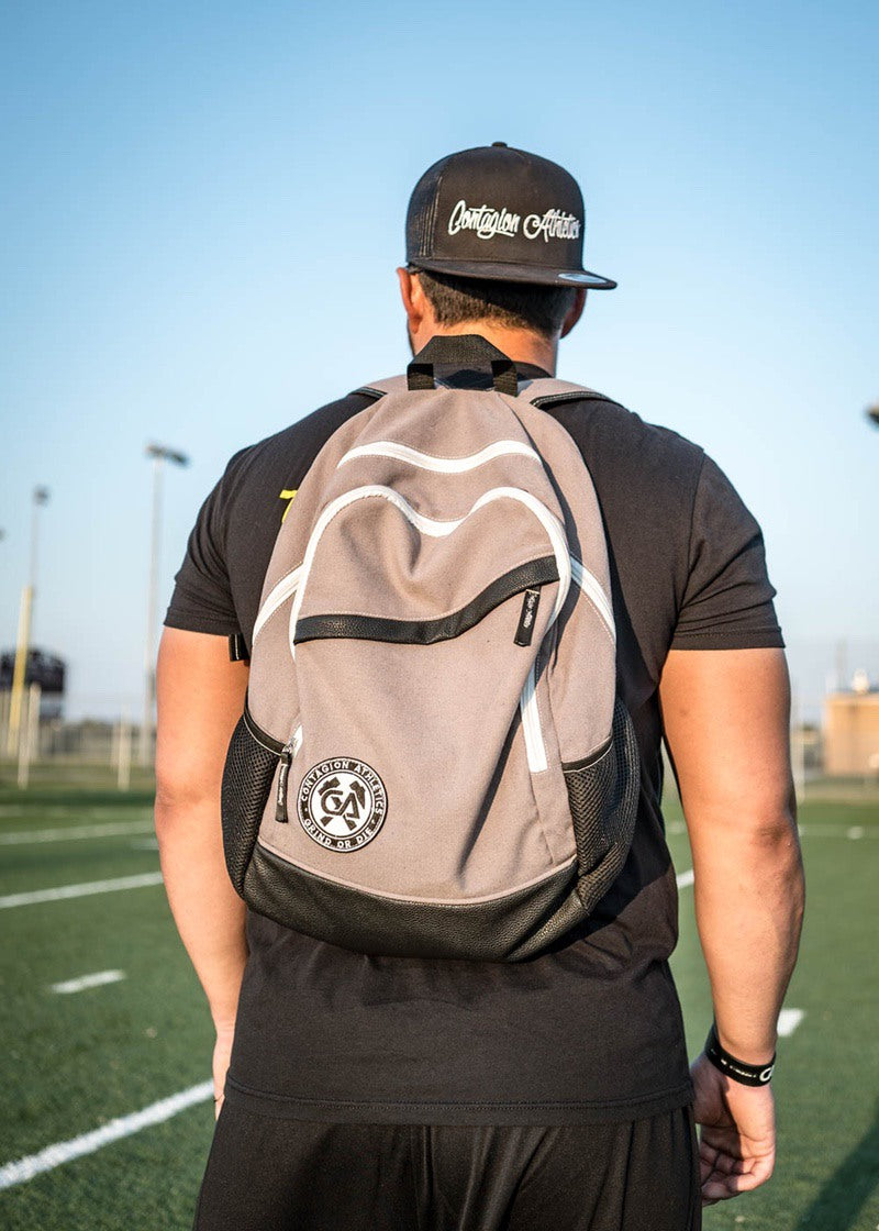 Crested Backpack - Gray - Shop : Accessory : Backpack - Contagion Athletics
