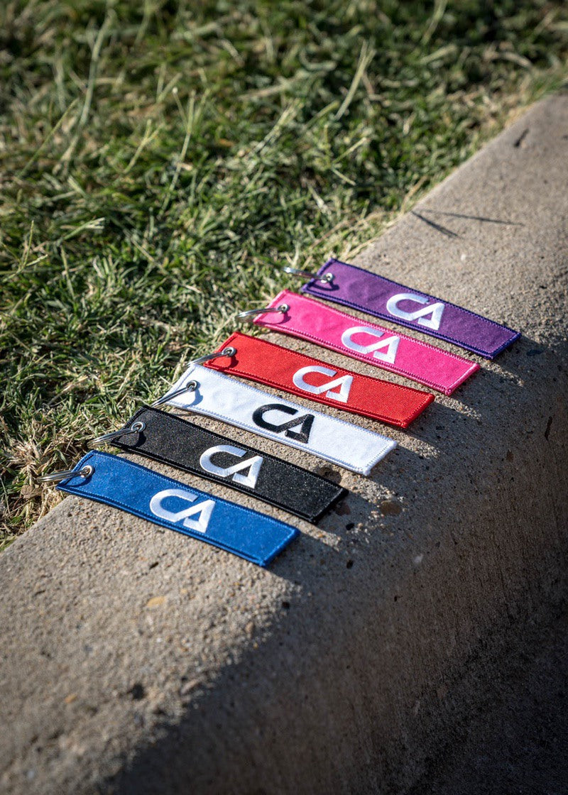 Pilot Tag Embroidered Keychain - Shop : Accessory : Keychain - Contagion Athletics