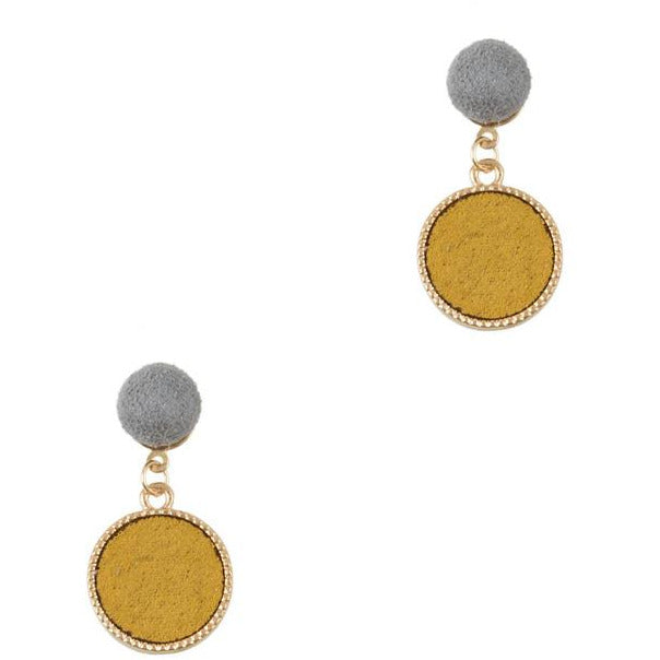 Grey and Mustard Dangles