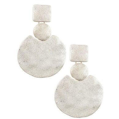Circles and Squares Dangle Earrings