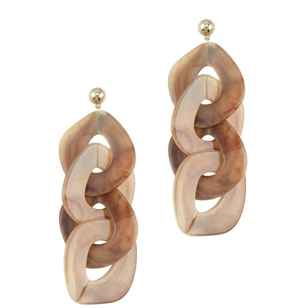 Plastic Chain Earrings
