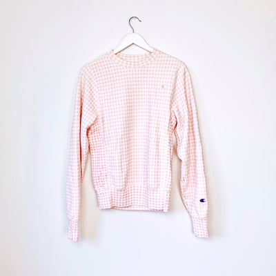 Champion Pink Plaid sweatshirt