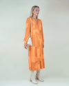 House of Sunny Orange Cinema Dress Vintage Style panel dress