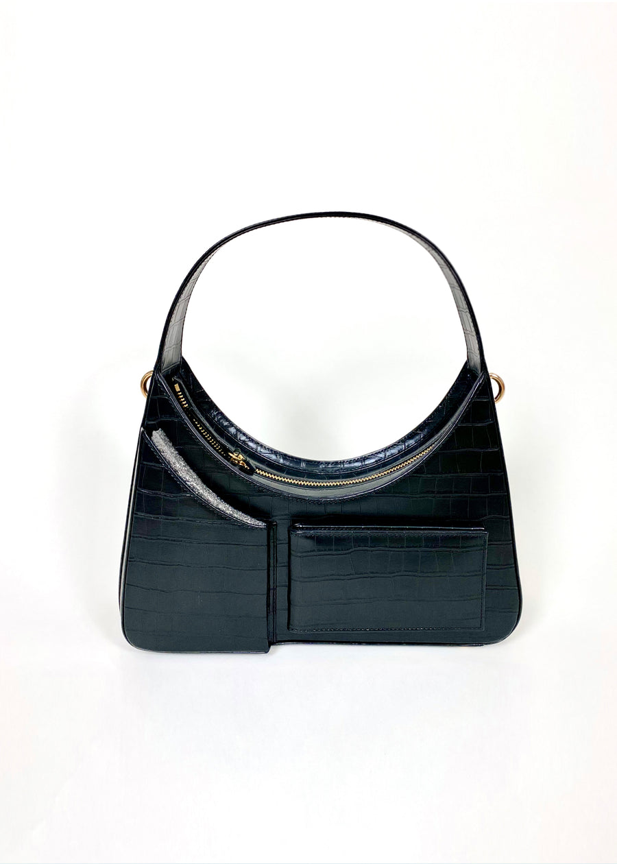 House of Sunny Icon Shoulder Bag in Vegan Leather Luna Front