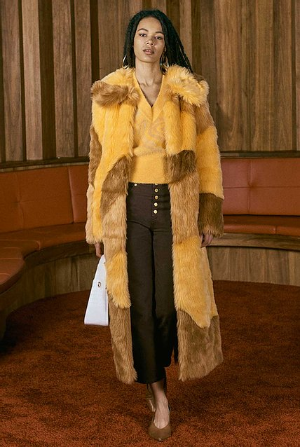 Diddy Patchwork Fur Amber & Teak