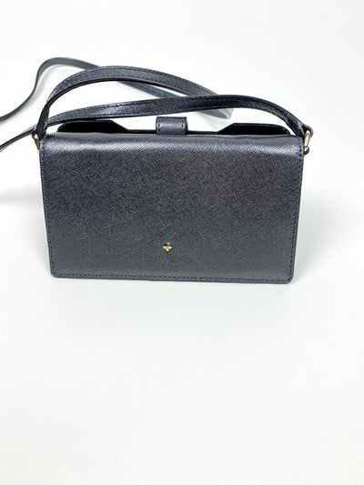 Space gray crossbody in saffiano leather