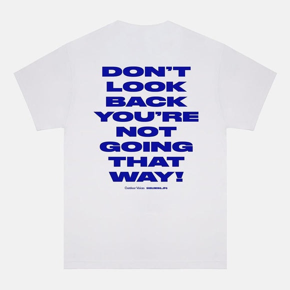 Outdoor Voices x Subliming – Don't Look Back T-shirt