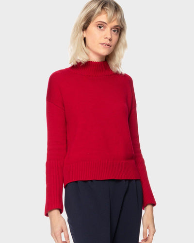 Vida Merino Wool Mockneck Sweater