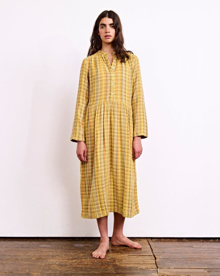 Grace Dress in Amber Yellow