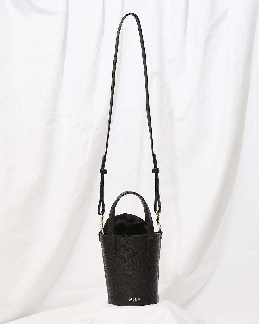 Crossbody mini bucket in Midnight