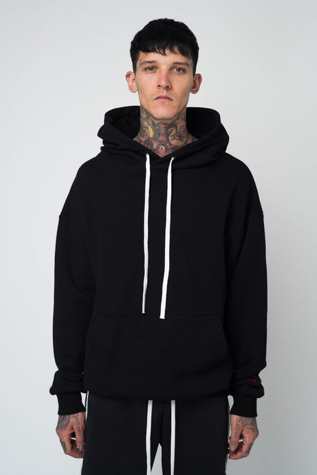 OUTGROW AVERAGE HOODIE - BLACK - GROWN ROYAL