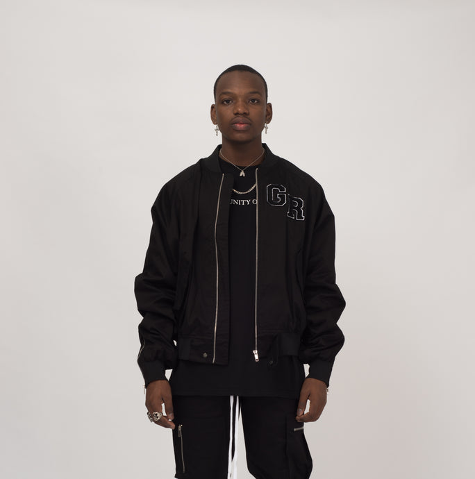 TACTICAL BOMBER JACKET - BLACK