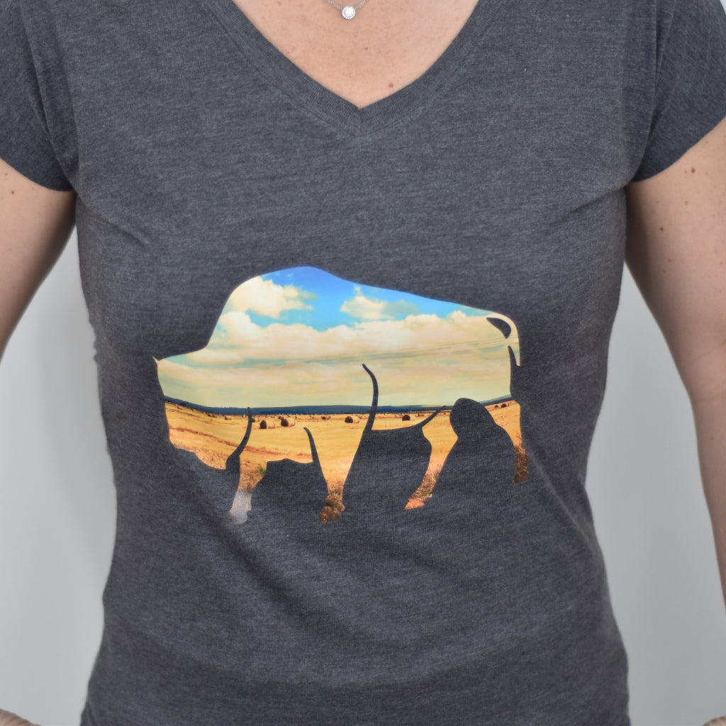 Bison Women's V-Neck