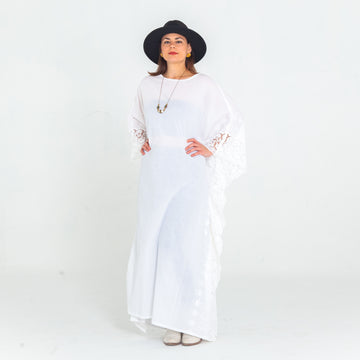 Blanca Embroidered Madre Kaftan