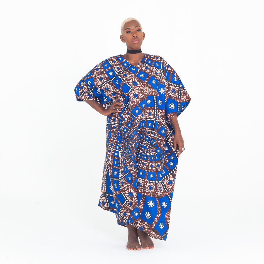 Blue Electric Madre Kaftan