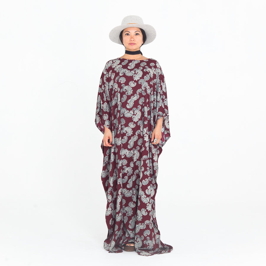 Red Paisley Madre Kaftan