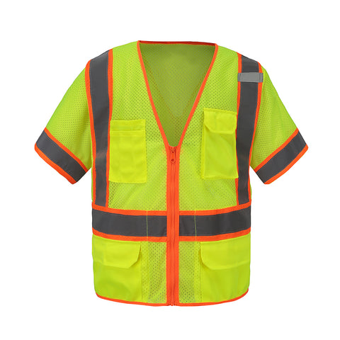 360 Gold Label Short Sleeve 6 pockets Utility Vest ANSI/ISEA 3 Compliant