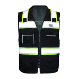 Enhanced Visibility Professional Utility Vest B500 Black