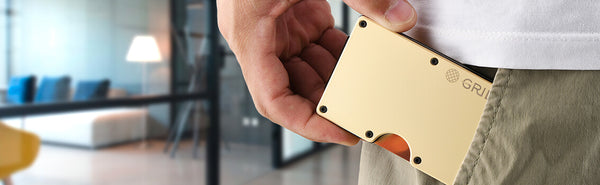 Grid's antimicrobial copper wallet