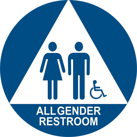 "SignOptima™️ ADA Compliant All Gender Restroom 12"" Door Sign"