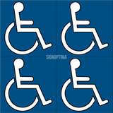 Accessibility Table Sign-ADA Sign-SignOptima