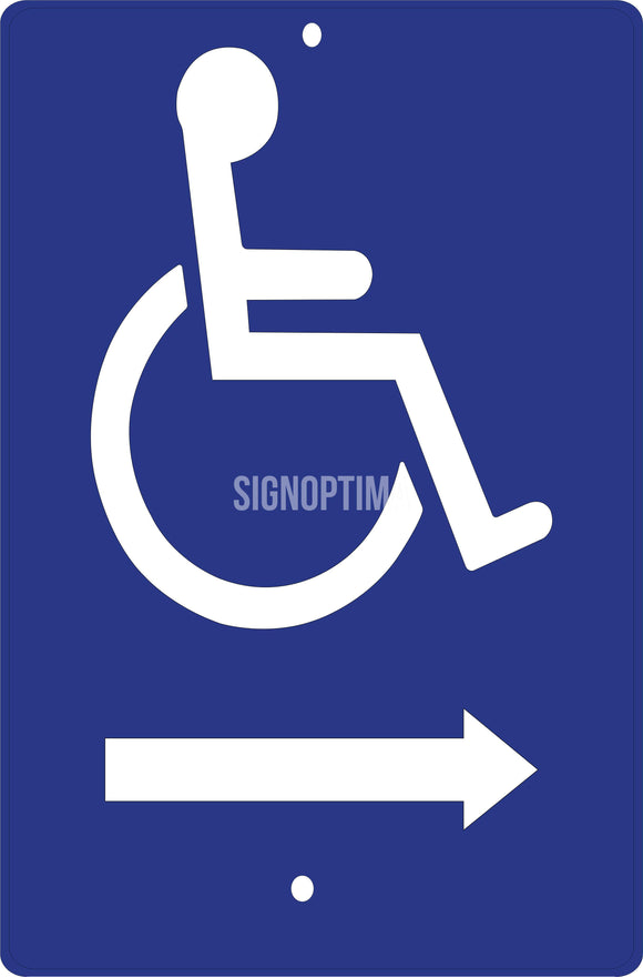 Accessible Entrance Directional Aluminum Sign-Parking Sign-SignOptima