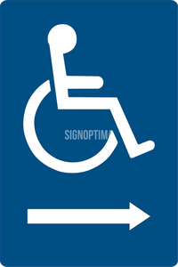 "ADA Compliant Accessible Entrance Sign with Arrow ,Acrylic 6""x9""-ADA Sign-SignOptima"