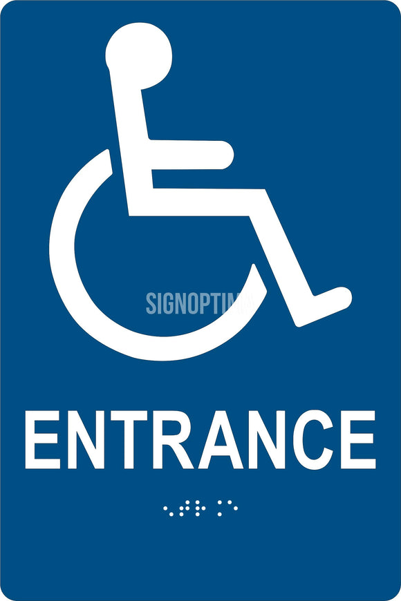 ADA Compliant Accessible ENTRANCE Sign,Acrylic Braille 6