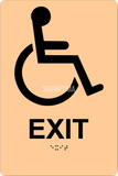 "ADA Compliant Accessible EXIT Sign,Acrylic Braille 6""x9""-ADA Sign-SignOptima"