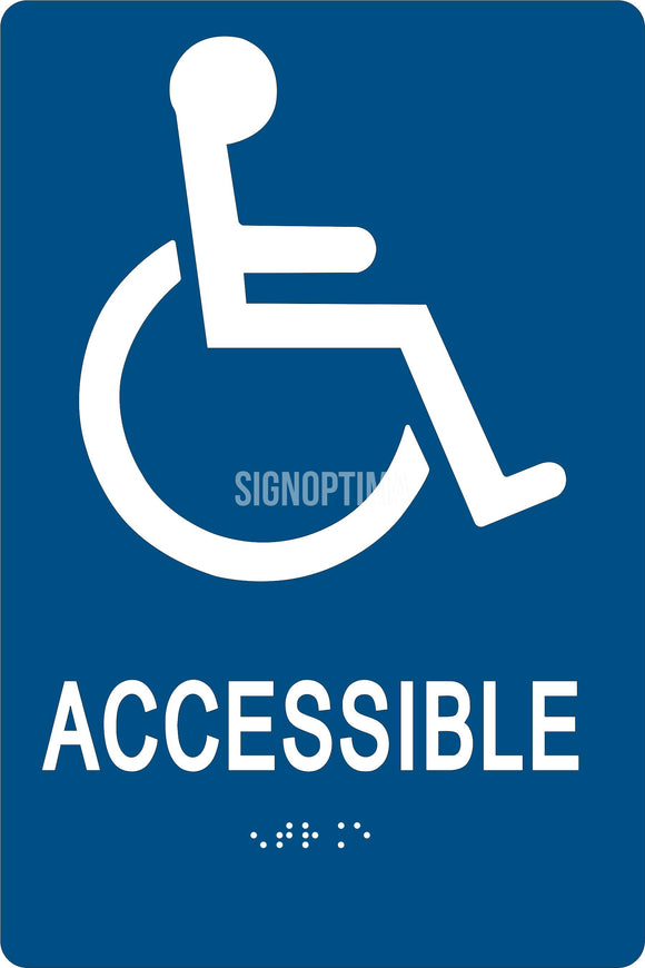 ADA Compliant Accessible Sign,Acrylic Braille 6
