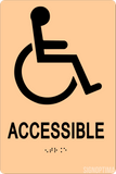 "ADA Compliant Accessible Sign,Acrylic Braille 6""x9""-ADA Sign-SignOptima"