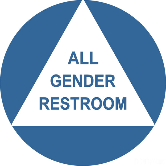 ADA Compliant All Gender Restroom Sign-ADA Sign-SignOptima