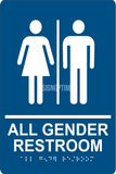 ADA Compliant All Gender Restroom Sign With Braille II-Restroom Sign-SignOptima