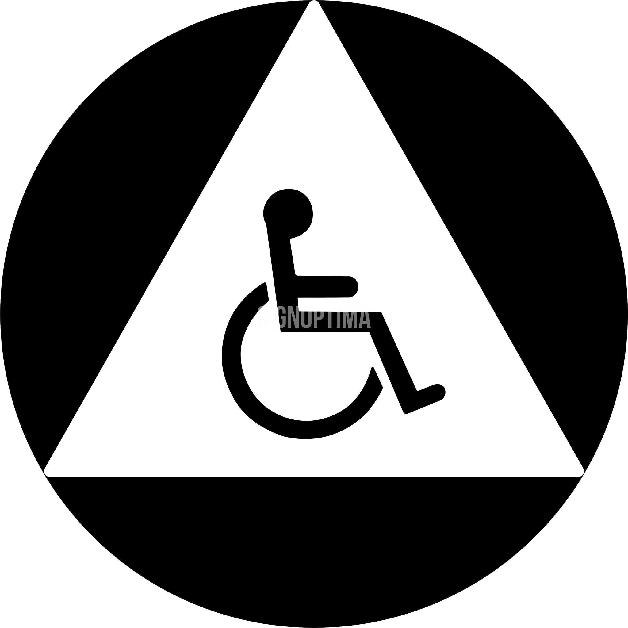 ADA Compliant All Gender Unisex Accessible Restroom Sign ...