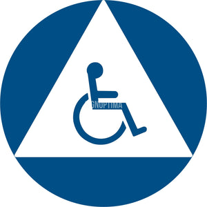 ADA Compliant All Gender Unisex Accessible Restroom Sign-ADA Sign-SignOptima