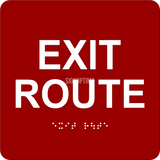"ADA Compliant EXIT ROUTE Sign,Acrylic Braille 6""x6""-ADA Sign-SignOptima"