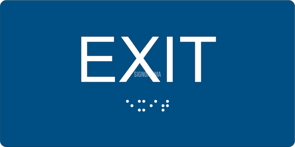 ADA Compliant EXIT Sign,Acrylic Braille 6